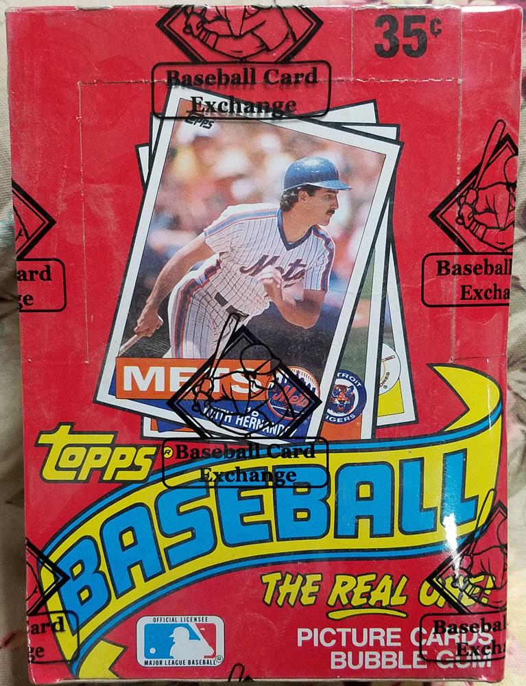 1985 Topps Wax Box Bbce