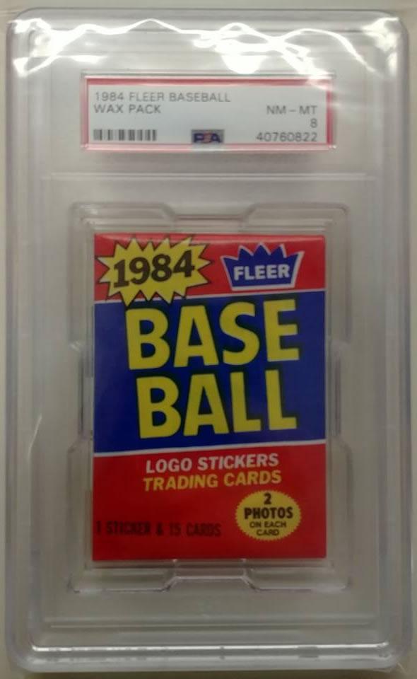 1984 Fleer Baseball Wax Pack Psa 8