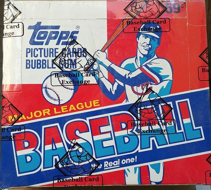 1985 Topps Baseball Cello Box Bbce