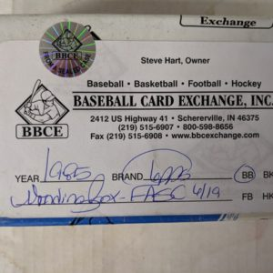 1985 Topps Wax Box Bbce Ripping Vintage Packs